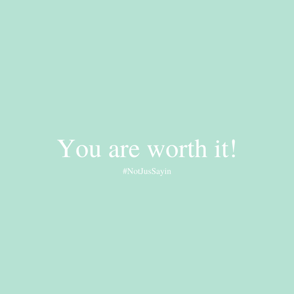 Affirm you are worth it