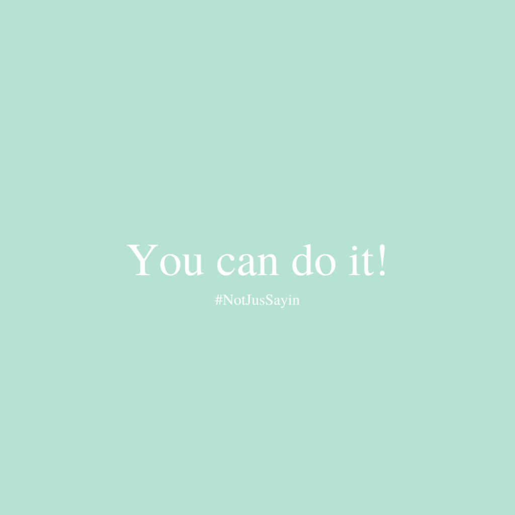Affirm you can do it