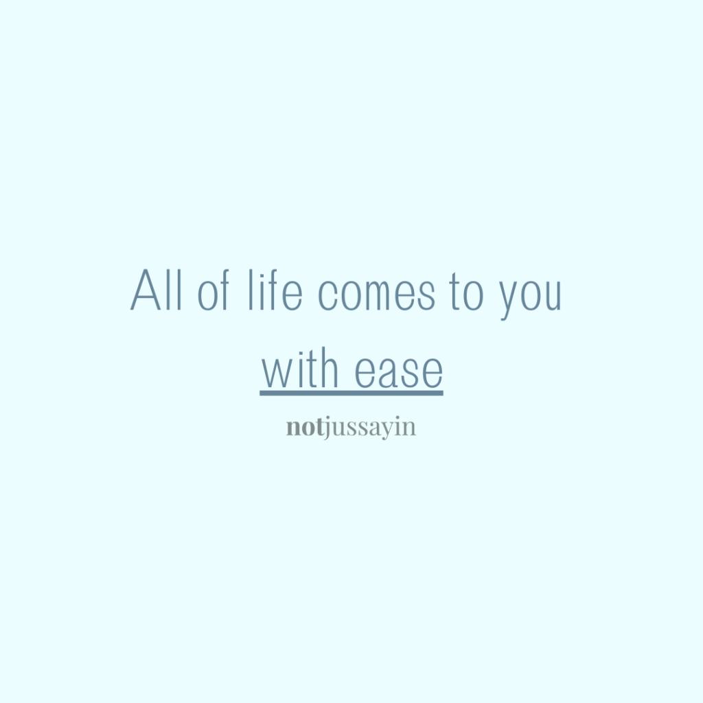 #ease #lifeiseasy #faith #keepthefaith #trusttheprocess #trustthejourney #journey #process #sillverlining #trusttheuniverse #universe