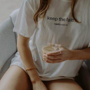 Keep the faith quote t shirt