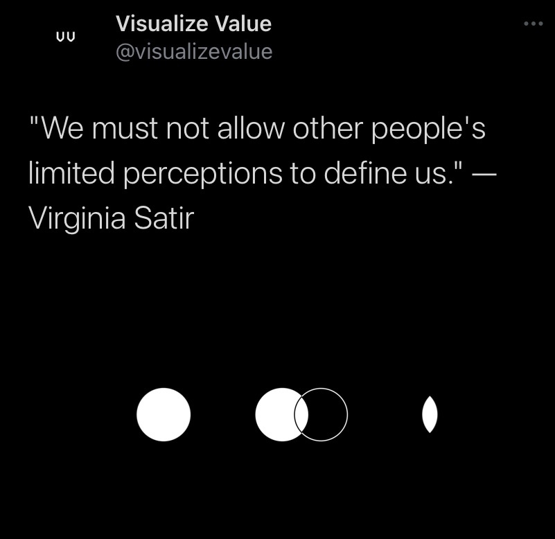 We must not allow other people's limited perceptions to define us.